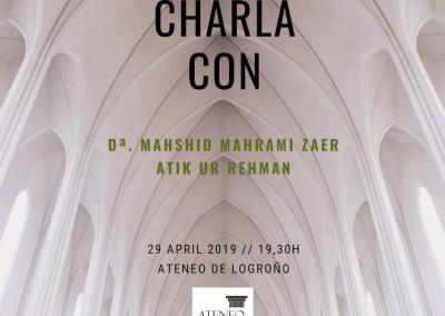 Charla con Mashid Mahrami Zaer y Atik Ur Rehman (29 de Abril)